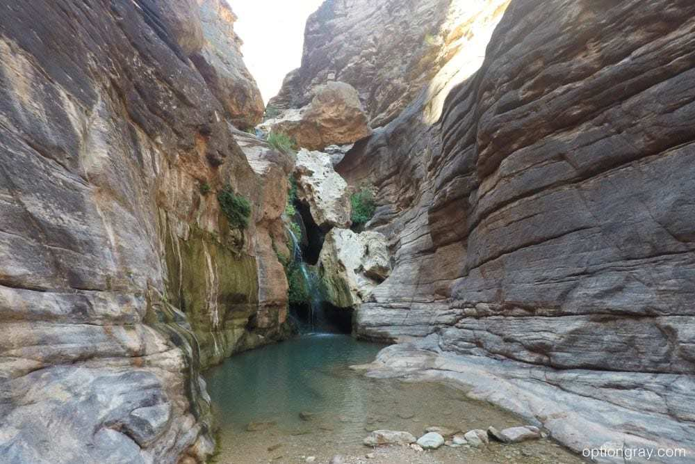 The waterfall and pool at Elves Chasm, Grand Canyon.