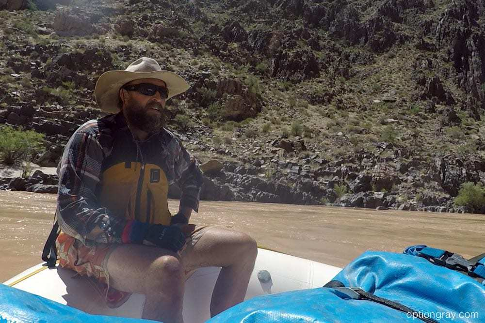 AzRA guide Jay gives a pep talk and words of wisdom to the paddle boat before Hermit.