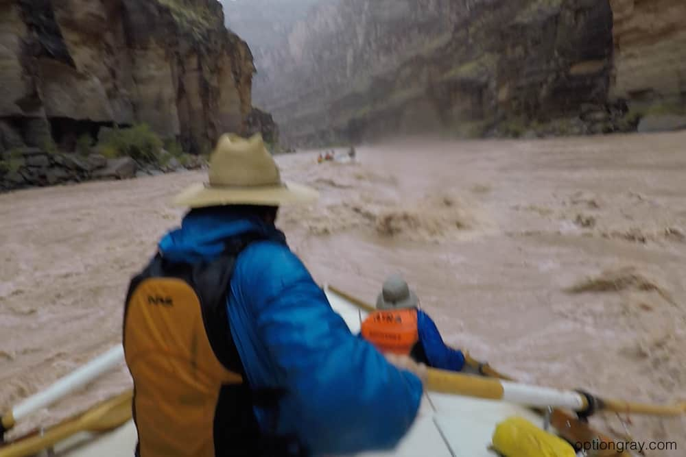 Running the rapids in the rain created a totally different experience.