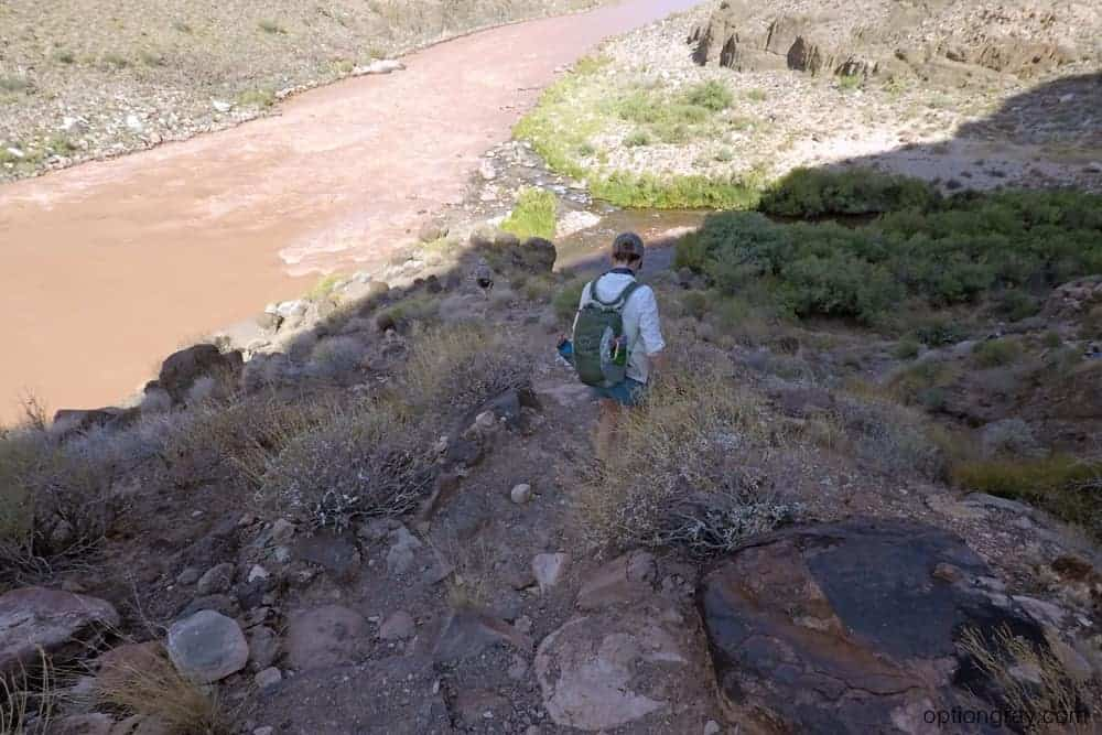 A brief hike from the campground to where Tapeats Creek feeds into the Colorado River.