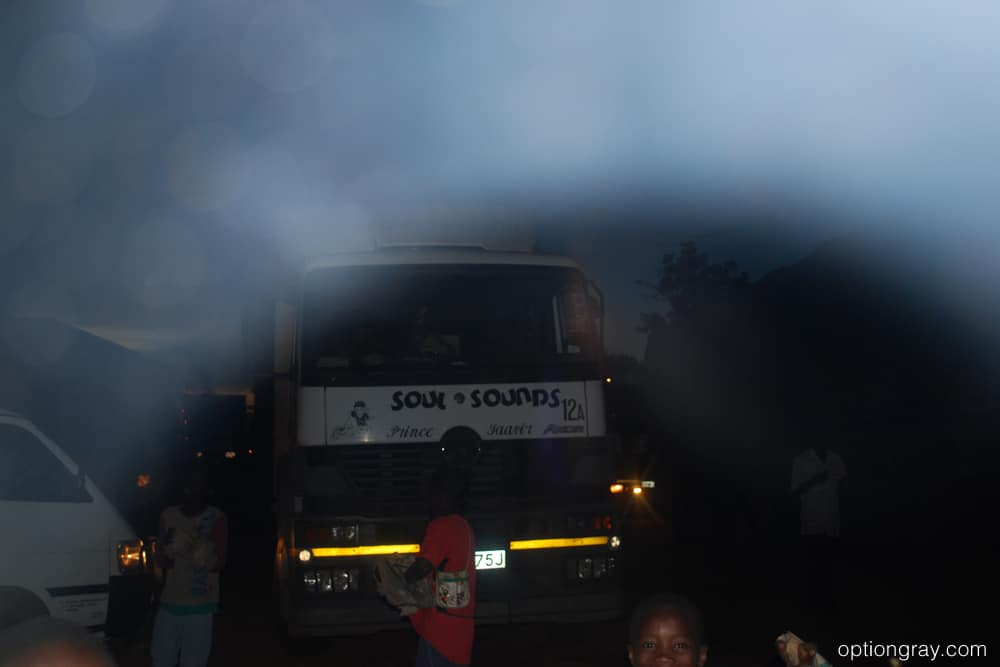 In line at the border crossing from Kenya to Uganda.