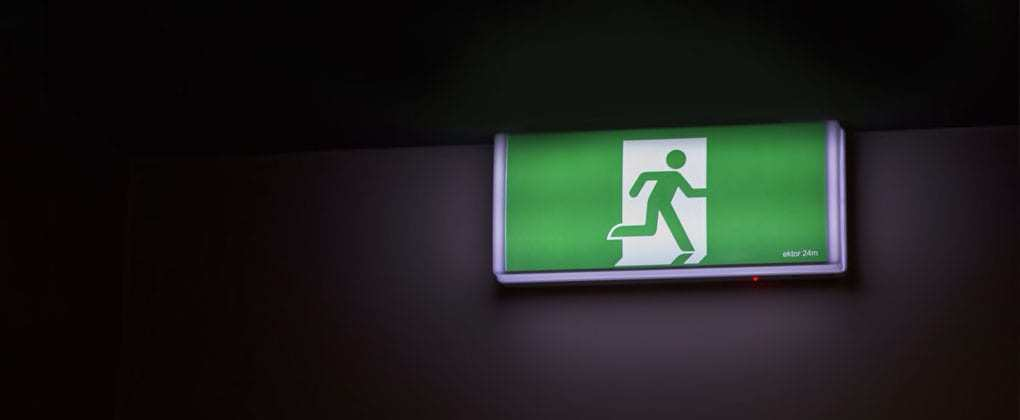 Active Shooter Exit Sign