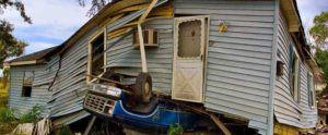 house on car tornado