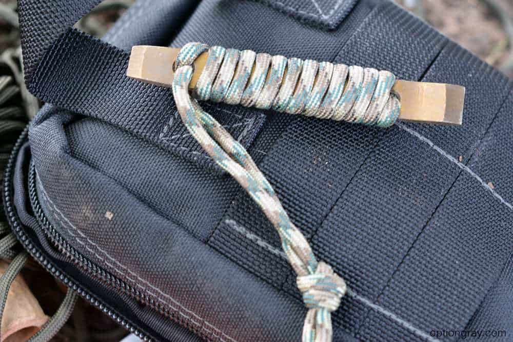 prybar with paracord handle wrap