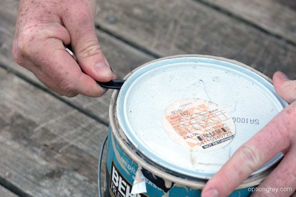 gerber shard opening can of paint