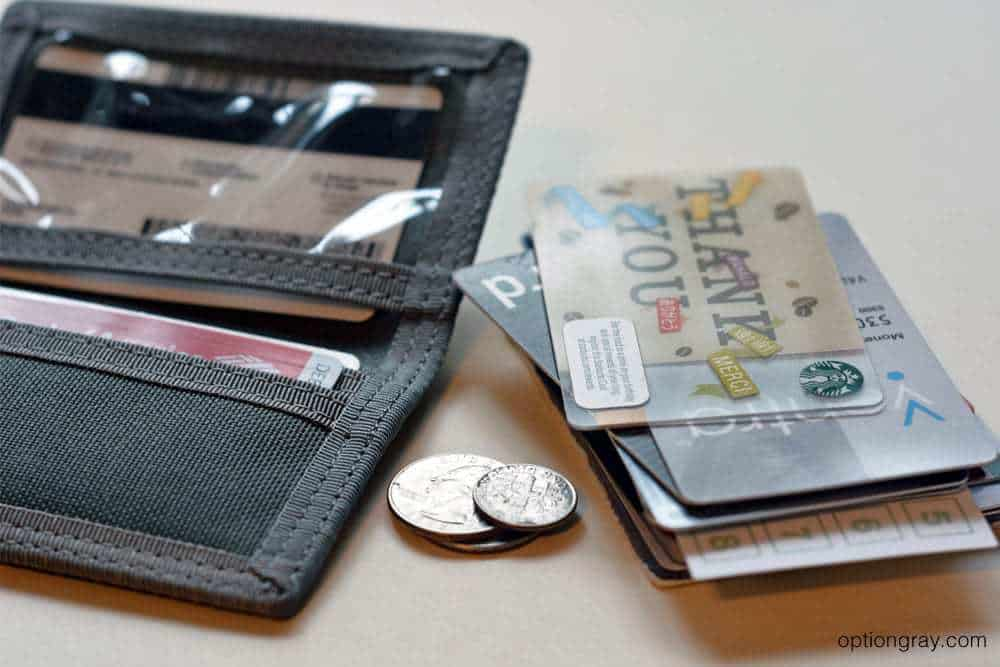 Maxpedition micro wallet with cards