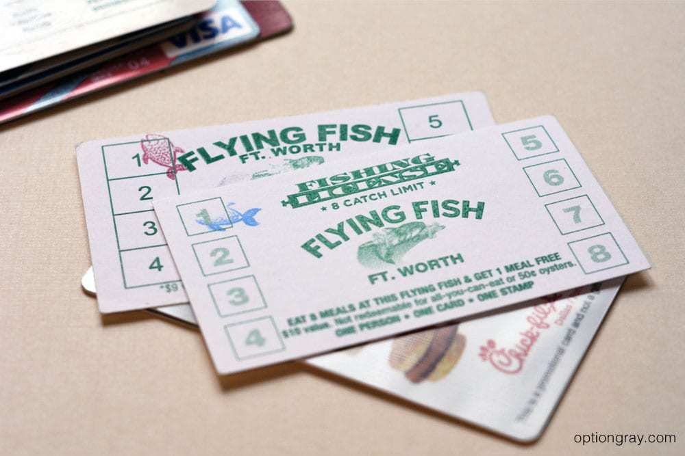 flying fish loyalty cards