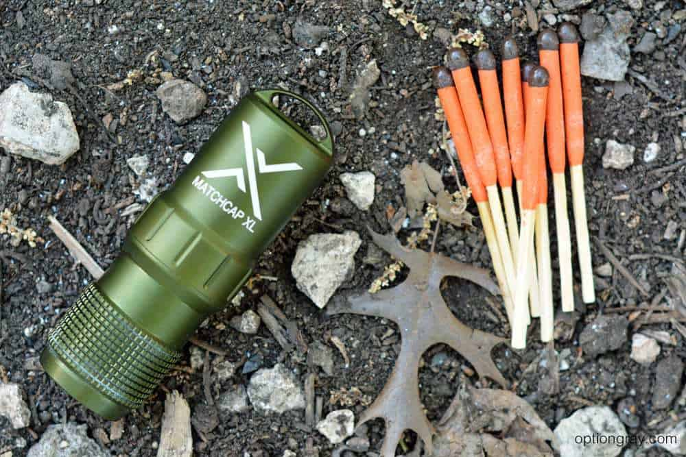 EXOTAC's Matchcap XL and UCO Stormproof Matches.