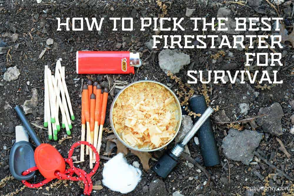 Light My Fire 2.0 Scout, Standard Kitchen Matches, UCO Stormproof Matches, a Bic Lighter, the EXOTAC tinderTIN Shavings, and the Solo Scientific Aurora Fire Starter 440C with Magnesium.